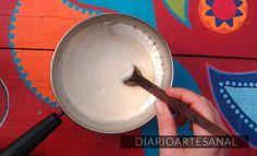 Pegamento casero para papel (la receta de la Nona) Decoupage, Ice Cream, Ethnic Recipes, Desserts, Diy, Crafts, Food, Ideas Para, Angeles