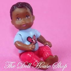 african american dollhouse people | African-American-Baby-Boy-AA-People-Fisher-Price-Loving-Family ... [ebay bid ended]