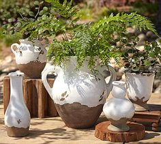 Love these Tuscan terra cotta urns from Pottery Barn