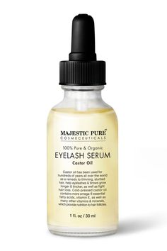 Majestic Pure Castor Oil for Eyelashes Growth Serum consists of Pure and Natural Castor Oil. Gentle for all skin types. Oil For Eyelash Growth, Best Eyelash Growth Serum, Natural Eyelash Growth, Eyelash Serum, Eyelash Glue, Coconut Oil Eyelashes, Natural Eyelashes, Mink Eyelashes, Grow Eyelashes