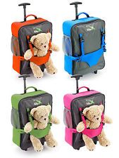 Kids Lightweight Suitcase Trolley Case Wheeled Travel Childrens Hand Luggage Bag
