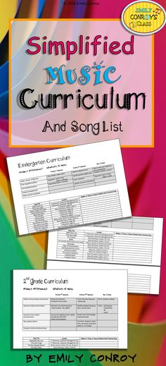 Elementary Music Curriculum-Simplified and easy to follow curriculum for grades K-5 for the whole year! It also comes with a song list for each grade!