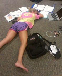 study all night