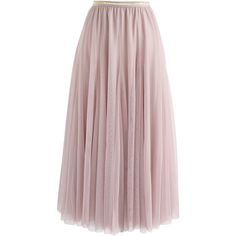 My Secret Weapon Tulle Maxi Skirt in Pink (265 PLN) ❤ liked on Polyvore featuring skirts, maxi skirts, layered tulle skirt, floor length tulle skirt, elastic waist long skirts and long pink skirt