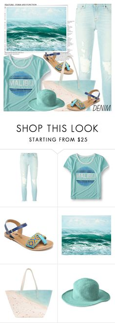 """""""Dream Jeans Dream Beach!"""" by shoaleh-nia on Polyvore featuring 7 For All Mankind, Aéropostale, Penny Loves Kenny, Paige Gamble and San Diego Hat Co."""