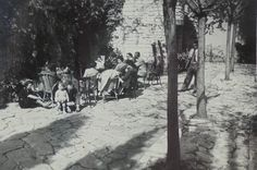French 1940's Summer Photo - People Outside On a Terrace by ChicEtChoc on Etsy