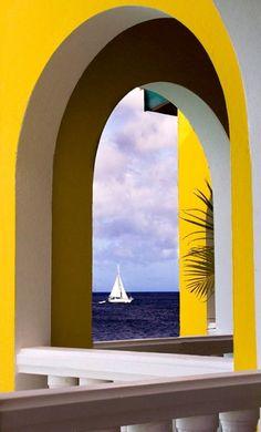 """ღღ """"Arch of Tranquility"""" in Bonaire, Netherland, Antilles."""