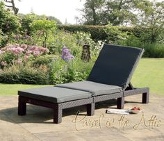 Rattan Garden Patio Sun Lounger Bed Relaxer Recliner Chair Outdoor Adjustable & SET OF 2 Brown Relaxer Recliner Sun Lounger Garden Chairs ... islam-shia.org