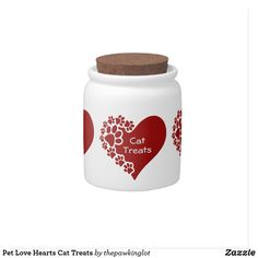 Pet Love Hearts Cat Treats Candy Jar Holiday Cards, Christmas Cards, Custom Candy, Creature Comforts, Cat Treats, Having A Blast, Hard Candy, Candy Jars, Christmas Card Holders