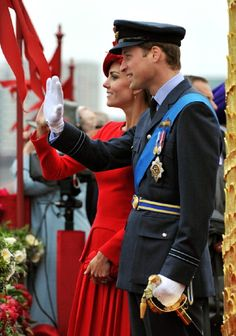 (L-R) Catherine, Duchess of Cambridge and Prince William, Duke of Cambridge during the Diamond Jubilee Thames River Pageant in June 2012, London