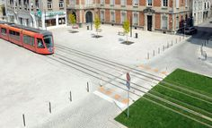 Richez Associés | le tramway de Reims Eco City, Tramway, Public Realm, Green Street, Light Rail, Parcs, Urban Planning, Public Transport, Urban Design