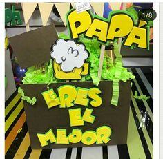 Foam Crafts, Diy And Crafts, Ideas Para Fiestas, Bart Simpson, Origami, Happy Birthday, Baby Shower, Lettering, Party