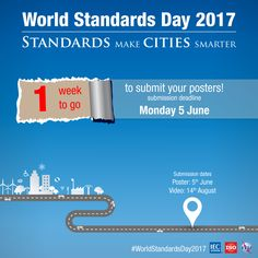 The World Standards Day competition is back. In past years, we've had first poster competitions, then video competitions – this year we have both. Poster Competition, We Need You, City, World, Posters, Cities, Poster, The World, Billboard