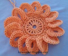 Watch The Video Splendid Crochet a Puff Flower Ideas. Phenomenal Crochet a Puff Flower Ideas. Freeform Crochet, Irish Crochet, Crochet Motif, Diy Crochet, Crochet Crafts, Crochet Stitches, Crochet Projects, Crochet Puff Flower, Crochet Flower Tutorial