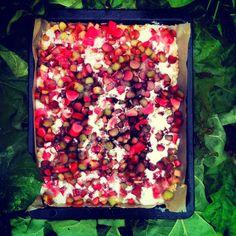 Louises køkken: Den vildeste rabarberkage, rhubub, rhabarber, cake, kuchen