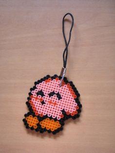 Sleepy Kirby Hamma beads by FuzzyMoguai