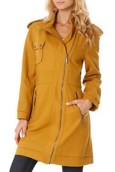 Lola Coat In Curry
