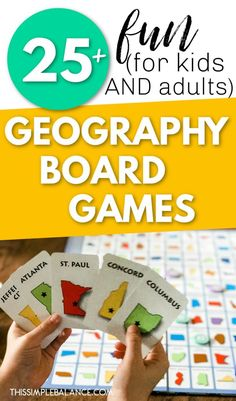 Over 25 Geography Board Games (geography card games, too!) to make learning geography fun! Learn new geography facts or reinforce the ones you already know. Geography Games For Kids, Geography Activities, Geography Lessons, Teaching Geography, Kid Activities, History Education, Teaching History, Educational Board Games, Spelling Games