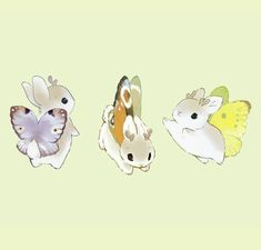 """""""The Winter Bunnerflies have come out to play! They look so toasty with their new winter coats. They might even flutter over to my shop soon. Cute Little Drawings, Cute Kawaii Drawings, Cute Animal Drawings, Kawaii Art, Pretty Art, Cute Art, Character Art, Character Design, Chibi"""
