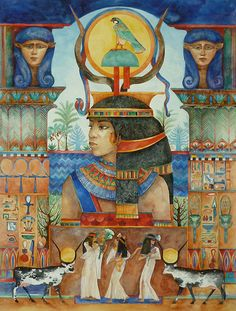 """Beautiful Ancient Egyptian Mother Goddess Temple"" par Helena Nelson-Reed"