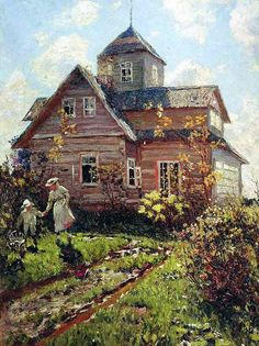 Cottage in Sillamagi - Nikolai Dubovskoy 1907