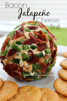Bacon Jalapeño Cheese Ball Spicy jalapeños, salty bacon and creamy cheese create an appetizer that is out of this world! Love it? Pin it to SAVE it! Follow Spend With Pennies on Pinterest for more great recipes! If you're looking for a recipe to...