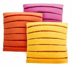 Zestaw 3 poduszek Level  MOODI 40x40 cm. żółty, pomarańczowy i różowy