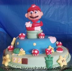 super mario boys birthday cake (Matt would have loved this as a kid....or even now!)