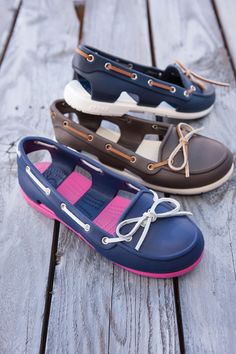 I love these boat shoes! and they're by Crocs!! I've always loved how comfy crocs are an now there are some really cute designs <3
