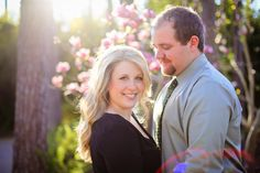 Spring Engagement Photo // photography ideas // sun flare