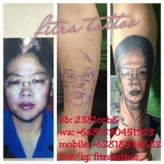 Put your love ones in a memoir # Portrait tattoo# done by @fitratattoo
