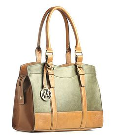 Love this!!!!!!!!!       Take a look at this Moss Green Jane Satchel by emilie m. on #zulily today!