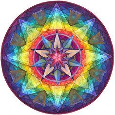 "Joy Mandala -- Artist, JO THOMAS BLAINE. ""Not when dreams come true, but NOW, in the making of the dream."" http://www.mandalaartplates.com/TheArtist/"