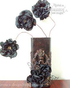 altered vase, mixed media