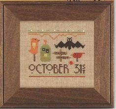 Smidgen of Halloween - Mary Janes Cross and Stitch