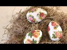 DIY Decoupage Romantique Shabby Chic Egg - YouTube
