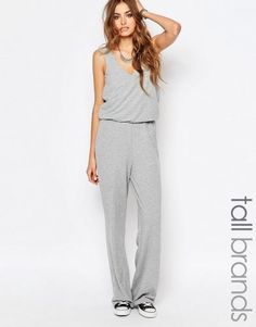 Noisy May Tall 2 In 1 Wide Leg Jumpsuit – Gray. Tall Women Clothing at PrettyLong.com