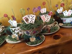 50 ideas disney bridal shower ideas center pieces tea cups for 2019 Mad Hatter Party, Mad Hatter Tea, Mad Hatters, Bridal Shower Centerpieces, Bridal Shower Favors, Party Favors, Disney Party Games, Alice Tea Party, Disney Bridal Showers