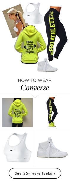 """Untitled #1658"" by savanah-mariee on Polyvore featuring Converse and NIKE"