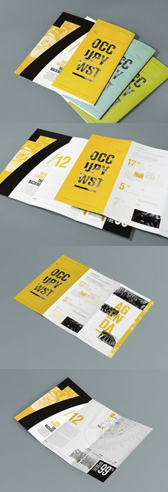 36 Ideas for design layout leaflet flyers Graphic Design Brochure, Brochure Layout, Brochure Ideas, Creative Brochure Design, Pamphlet Design, Leaflet Design, Print Layout, Layout Design, Design Design