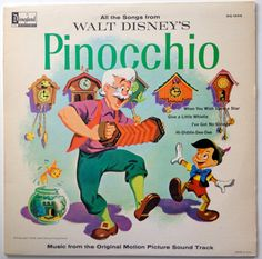 Pinocchio Music from the Original Motion Picture Soundtrack LP Vinyl Record Album, Disneyland- DQ Pop, Children's, Original Pressing Walt Disney Story, Disney Movies, Disney Fun, All Songs, Kids Songs, Pinocchio, Disney Musik, Disney Records, Vintage Vinyl Records