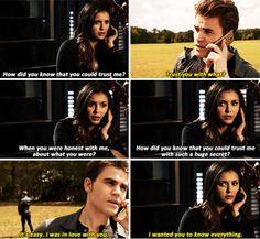 tvd 6x08 awww I do miss Stefan and Elena but vampire Elena belongs with Damon