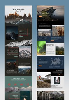 Free Trendy Templates from Nicepage - Nicepage is your first website designer with revolutionary natural positioning, element overlapping, and whitespace. Travel Website Design, Website Design Layout, Web Layout, Layout Design, Website Designs, Travel Design, Website Design Inspiration, Mise En Page Word, Mise En Page Portfolio