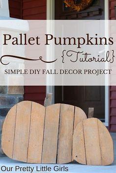 {DIY} Pallet Pumpkins