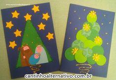 Olá amigos, tudo bem? Segue cinco lindos modelos de cartões de natal: Fonte:http://maestra-nella.blogspot.it/...