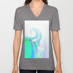 Re-Created  Tsunami EIGHT V-neck T-shirt by Robert S. Lee - $24.00