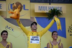 Tony Gallopin in Yellow after stage 9, Gerardmer-Mulhouse.