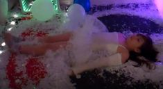 Creating a snow ball fight with paper snow and fan