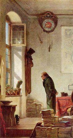 """""""Amante de cactus"""", 1850 - Carl Spitzweg"""