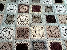 Chocolate and Vanilla Afghan. Flickr. Image only.
